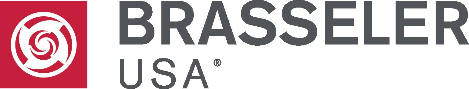 brassler usa logo red